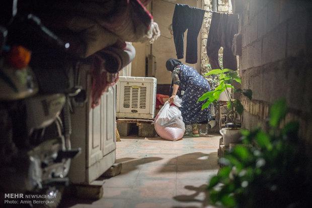 اغاثة العوائل المحرومة في ليلة استشهاد اميرالمؤمنين بشيراز