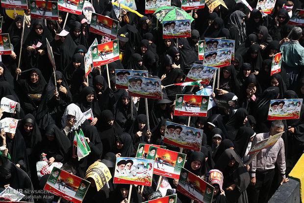 راهپیمایی روز جهانی قدس در قم / حجت الله عطایی