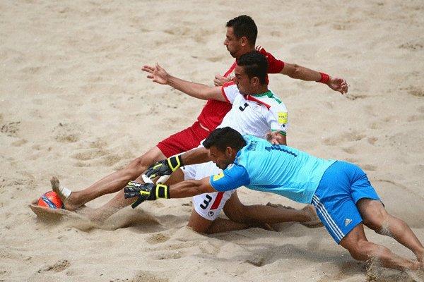 دیدار تیم های ملی فوتبال ساحلی ایران و اسپانیا