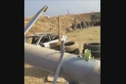 سقوط پهپاد اسرائیلی در لبنان