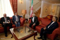 دیدار سرگئی لاوروف وزیر خارجه روسیه با محمد جواد ظریف وزیر خارجه ایران