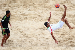 Iran thrashes US in Beach Soccer Cup