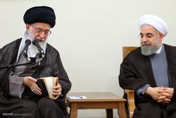 دیدار رئیس جمهور و اعضای هیات دولت با رهبر معظم انقلاب