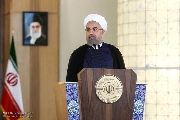 كلمة رئيس الجمهورية الاسلامية الايرانية عقب التوقيع على الاتفاق النووي