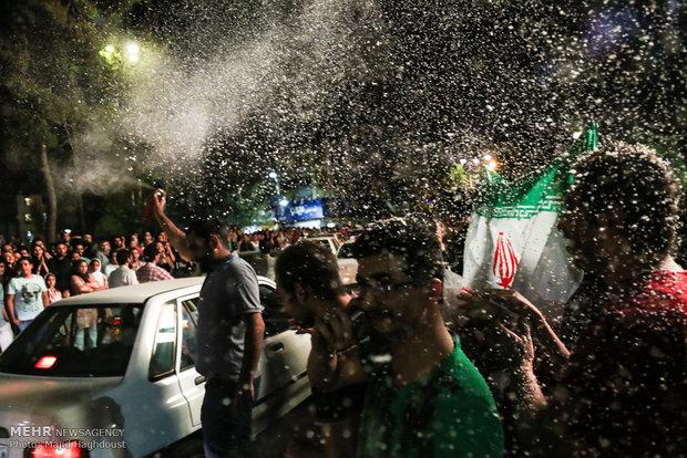 احتفالات شعبية بمناسبة اعلان الاتفاق النووي