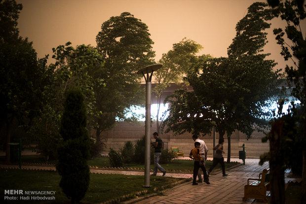 Storm hits Tehran