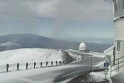 فلم/ ہاوائی آتشفشاں پر 6 سینٹی میٹر بارش و برفباری