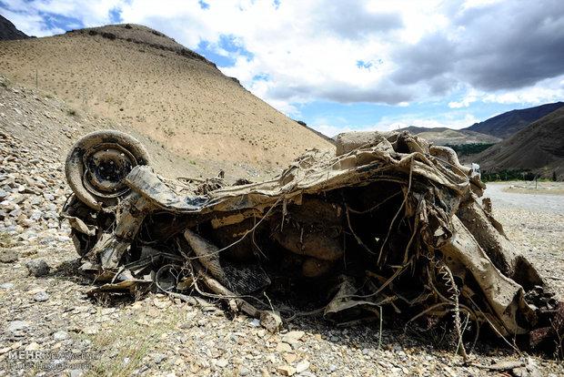 خسارات سیلاب در جاده چالوس
