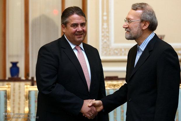 دیدار معاون صدر اعظم آلمان با رئیس مجلس شورای اسلامی