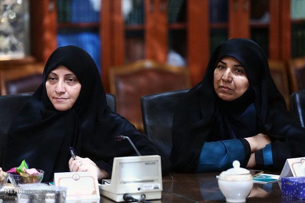 لقاء مديرة منظمة الصحة العالمية مع رئيس مجلس الشورى الاسلاميشورای اسلامی