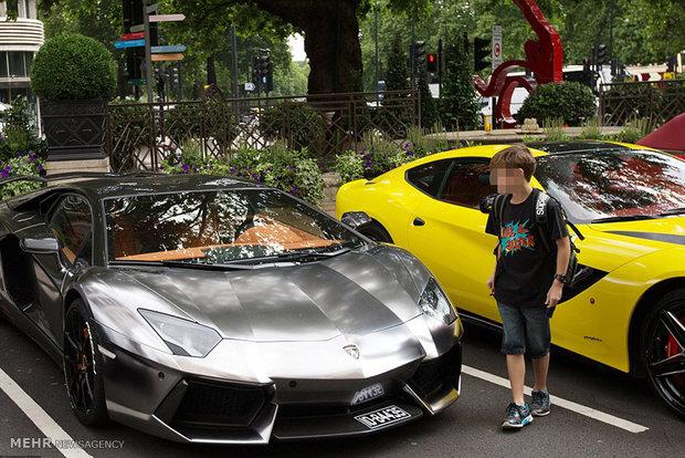 زندگی در انگلیس خودرو لوکس خودرو گرانقیمت ثروتمندان عرب