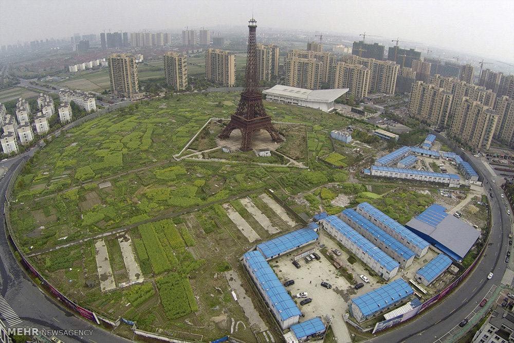 عکس/ مالک هم اندازه برج ایفل در چین