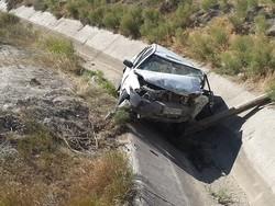 واژگونی خودروی پراید در جاده سراب به اردبیل حادثه آفرید