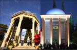 حال و هوای آرامگاه حافظ و سعدی بعد از بازگشایی