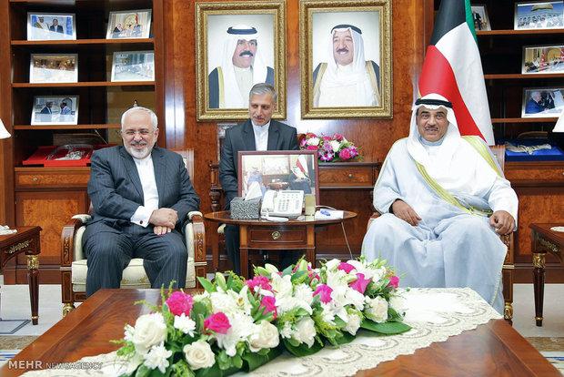 مشاهد من زيارة وزير الخارجية الايراني للكويت