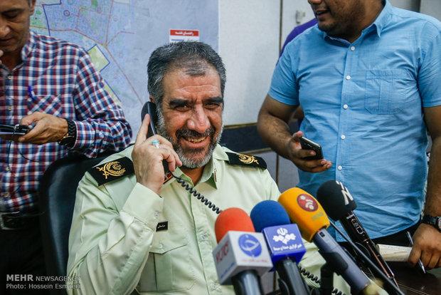 نشست خبری سردار عباسعلی محمدیان رئیس پلیس آگاهی تهران بزرگ