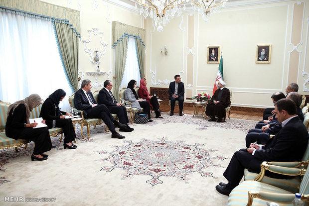 رئيس الجمهورية يستقبل مسؤولة السياسة الخارجية بالاتحاد الاوروبي