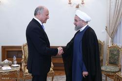 دیدار وزیر امور خارجه فرانسه با رئیس جمهور