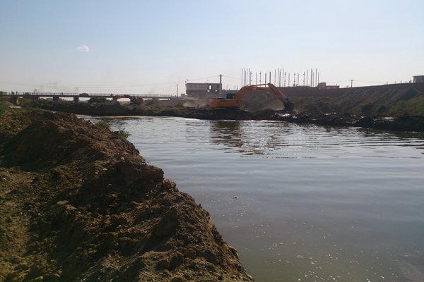 لایروبی رودخانه آجی چای