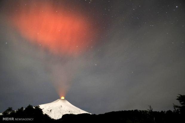 فعال شدن آتشفشان ویلاریکا در شیلی