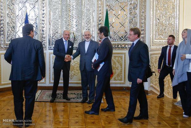 لقاء وزيري خارجية ايران وفرنسا