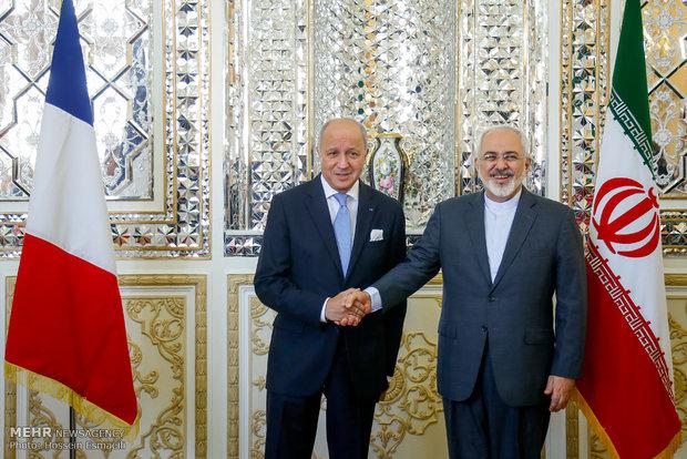 دیدار وزیران امورخارجه ایران و فرانسه