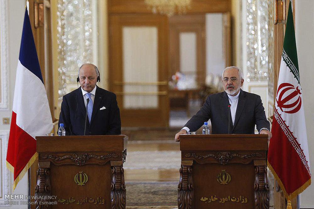 نشست خبری وزیران امورخارجه ایران و فرانسه