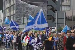 تظاهرات استقلال طلبان اسکاتلندی