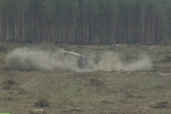 Russian helicopter crashes at airshow