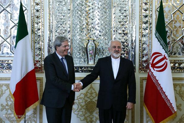 Zarif, Italian counterpart meet in Tehran
