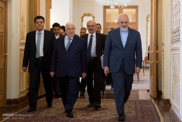 Zarif meets Syrian counterpart