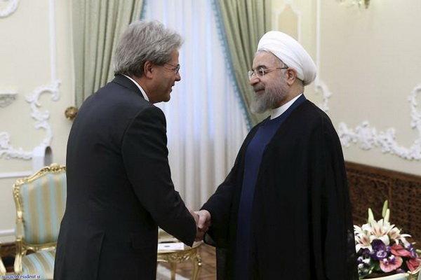 «روحانی» دعوت نخست وزیر ایتالیا را پذیرفت