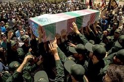تشييع ۴ شهید گمنام در شهر قهاوند