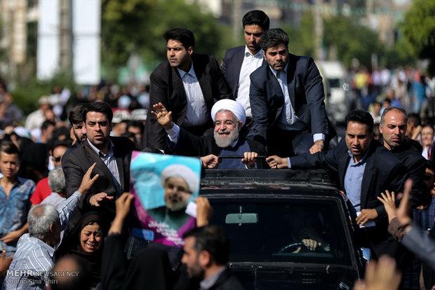 Rouhani visits southwest Tehran