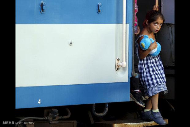 مهاجران خارجی در خیابان های بوداپست