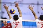 دیدار تیم های ملی والیبال ایران ب و ژاپن