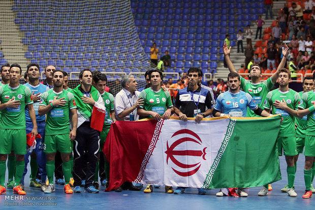 دیدار تیمهای فوتسال تاسیسات دریایی ایران و القادسیه کویت