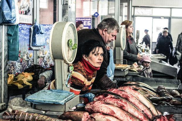 بازار مواد غذایی در شرق اروپا
