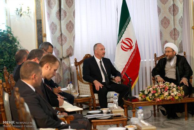 Iran judiciary chief meets Belarus Prosecutor General