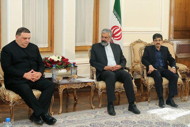 Iranian, Georgia officials meet