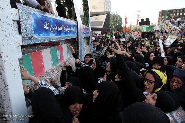 مراسم استقبال از شهدای غواص در مشهد