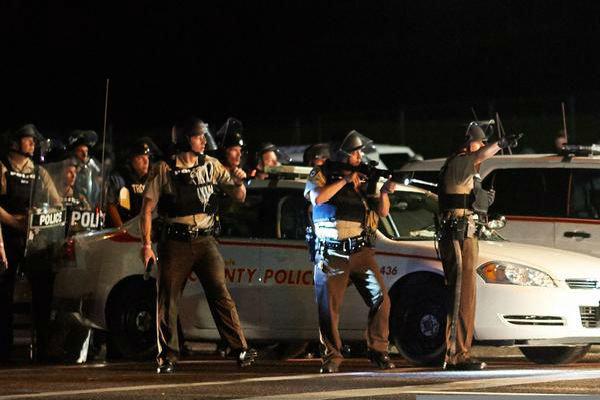 Gunfires erupts Ferguson anniversary