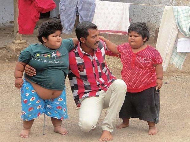 ہندوستان میں 3 اور 5 سالہ بہنوں کا وزن 33 اور 44 کلو