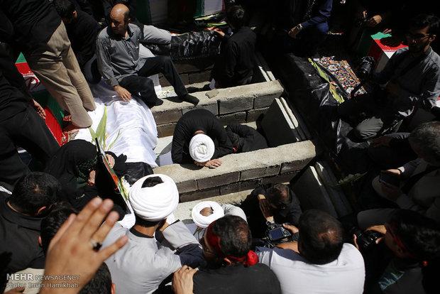 مراسم تشییع شهدای غواص در همدان