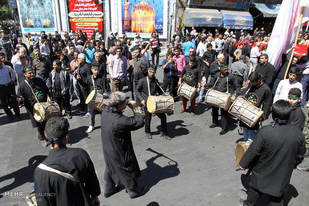 مراسم تشییع شهدای غواص در مشهد