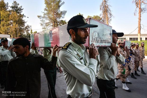 مراسم تشییع شهدای غواص در شیراز