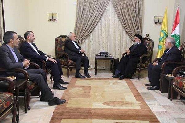 Zarif, Seyyid Hasan Nasrallah ile görüştü