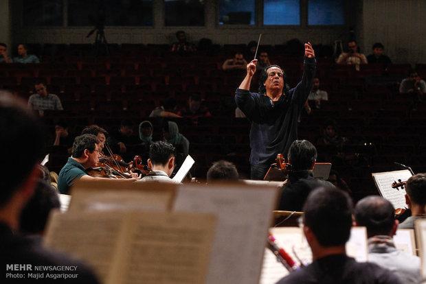 Iran, China orchestras' rehearsal session