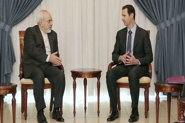 Zarif meets Assad in al-Rawda Palace