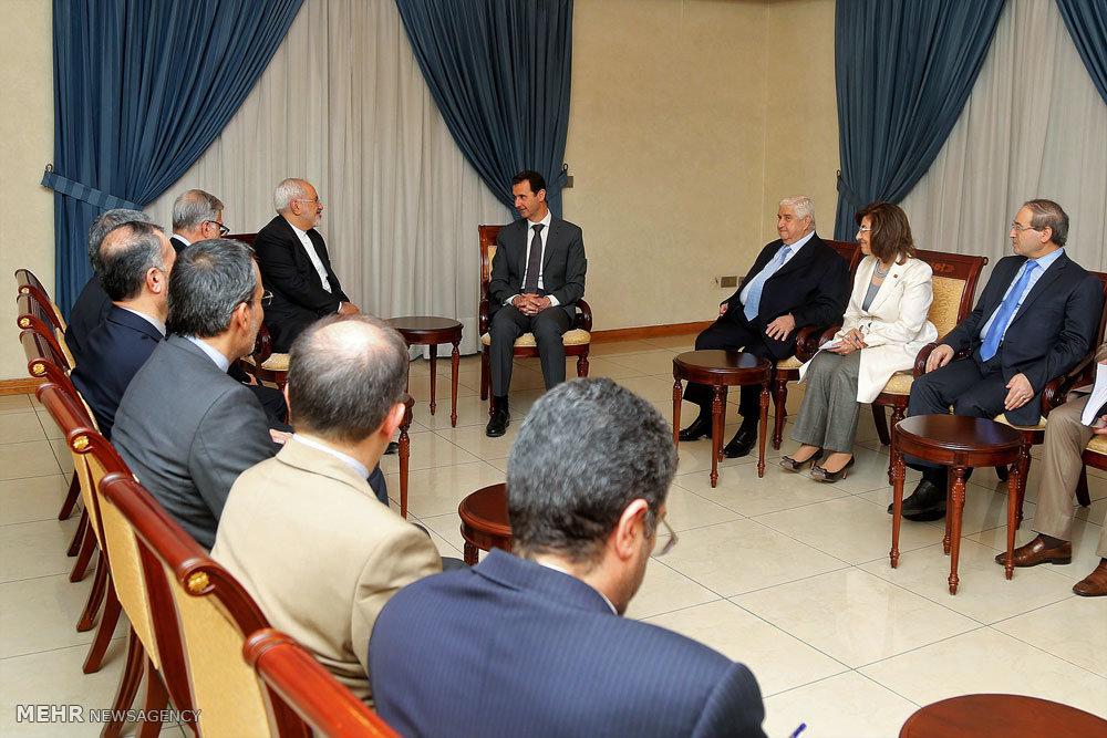 دیدار محمد جواد ظریف وزیر امور خارجه با رئیس جمهور سوریه و وزیر خارجه لبنان